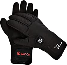 Savior Heated Gloves with Rechargeable Li-ion Battery Heated for Men and Women, Warm Gloves for Cycling Motorcycle Hiking Skiing Mountaineering, Works up to 2.5-6 Hours