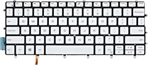 Replacement Keyboard for Dell XPS 13 9370 & XPS 13 9380 Laptop, Dell XPS 13 9370 9380 Keyboard with Backlit White US Layout