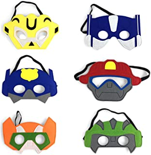 Rescue Bots Felt masks for Birthday Party favors and Dress up Costumes Set of 12
