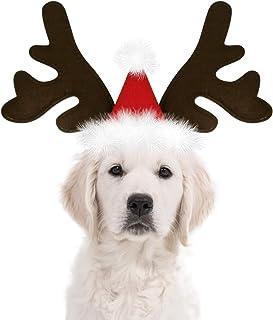 KUDES Dog Christmas Reindeer Antlers Headband Classic Elk Hat Headwear Pet Costumes Accessories
