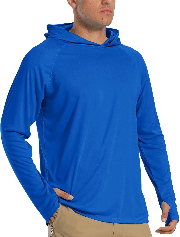 ligera exterior protecci/ón UV UPF 50+ para ejercicio y senderismo TACVASEN Camiseta de surf con capucha de secado r/ápido