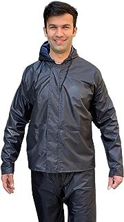Daelyn Heavy Duty Waterproof Windproof Raincoat Jacket and Pant Set for Men & Emergency rain Shoe Covers