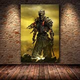 baodanla Sin Marco The Game Poster Decoration Painting of The Dark Souls en HD Canvas Canvas Painting Art Carteles e impresiones50x75cm