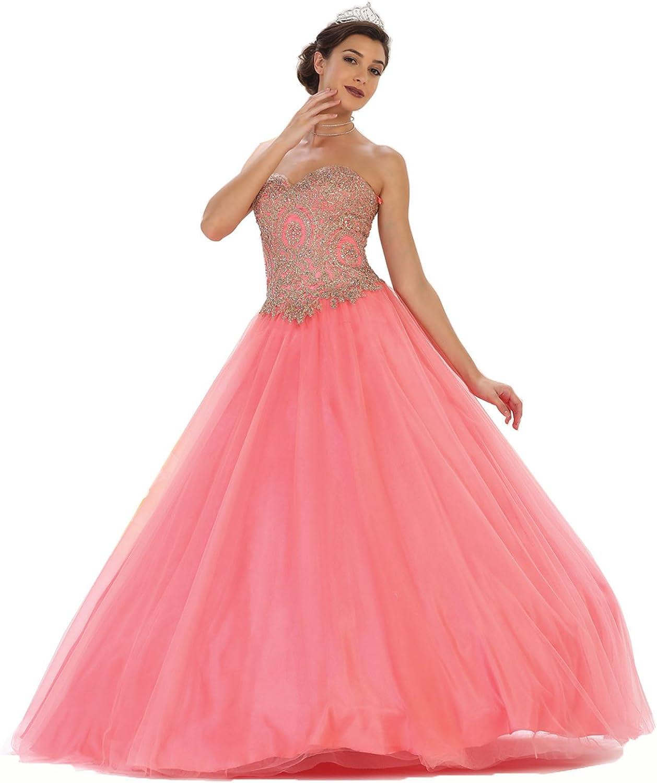 Layla K LK74 Strapless Sweet 16 Ball Dress