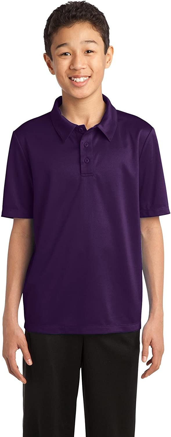 Port Authority Youth Silk Touch Performance Polo. Y540 Bright Purple L