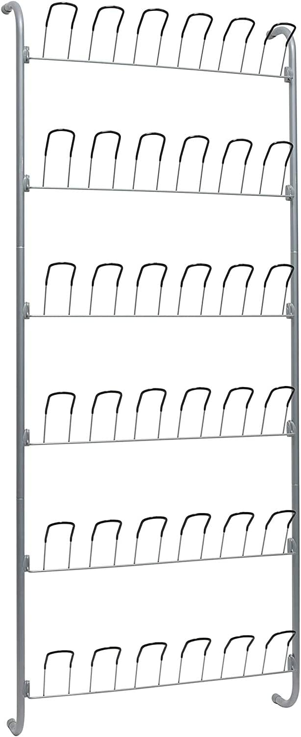 Pack of 2 Organize It All Over-The-Door 18 Pair Hanging Wire Shoe Rack