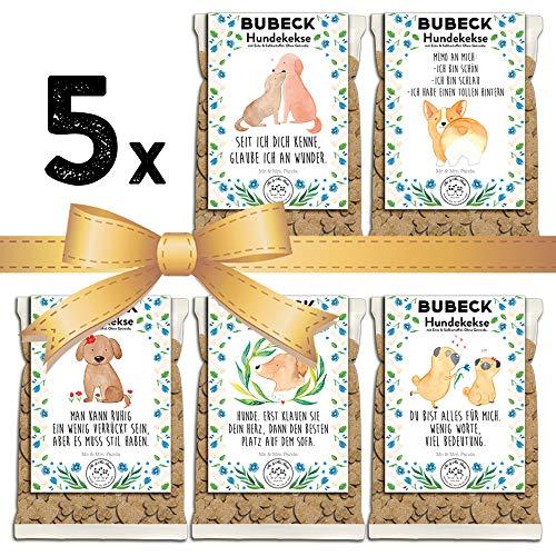 BUBECK | Mr & Mrs Panda | 5 x 210g | Hundekekse getreidefrei mit Süßkatoffel