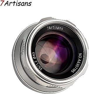 7artisans 35mm F1.2 APS-C Manual Focus Lens Widely Fit for Compact Mirrorless Cameras M4/3 Mount Panasonic G1 G2 G3 G4 G5 G6 G7 GF1 GF2 GF3 GF5 (Silver)