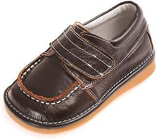HLT Toddler/Little Kid Boy Wide Hook&Loop Strap Squeaky Shoe
