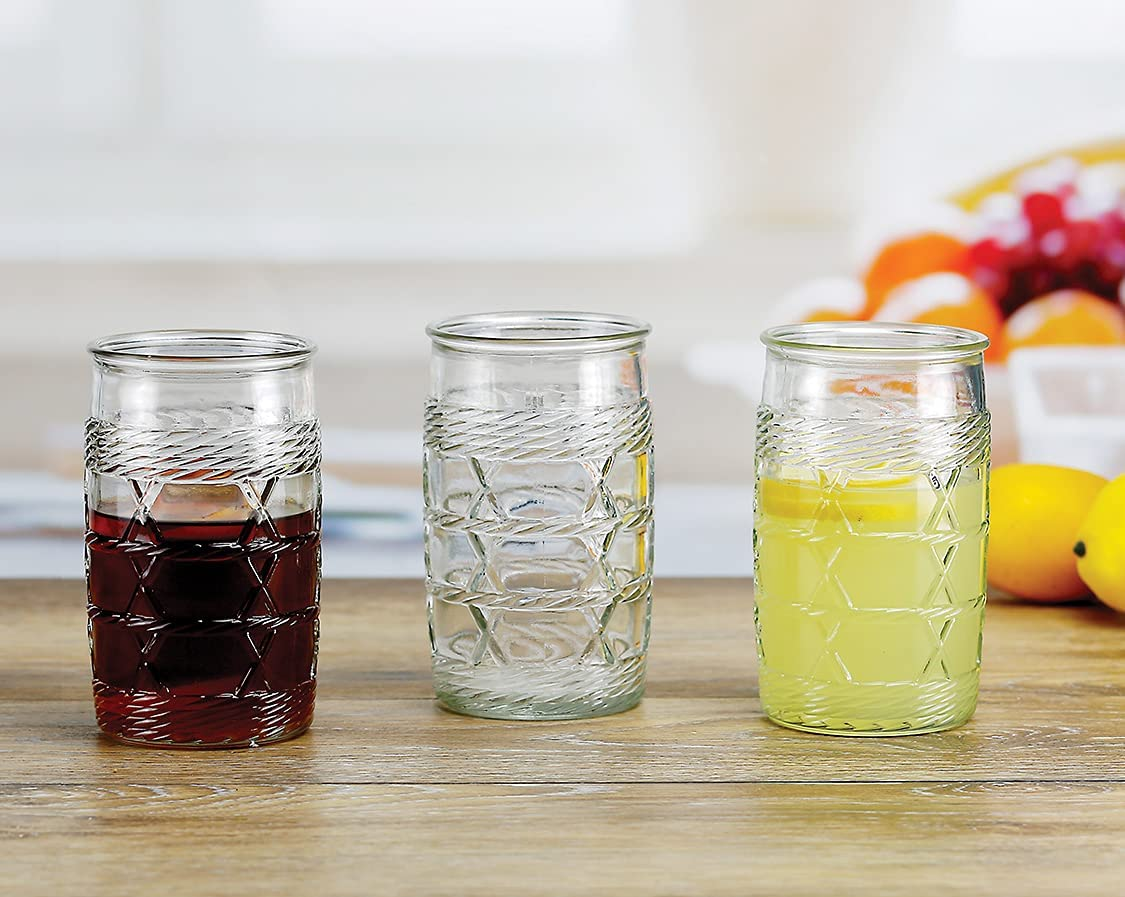 Circleware Wicker Heavy In a popularity Base Tumblers Brand new Highball Glasses Drinking