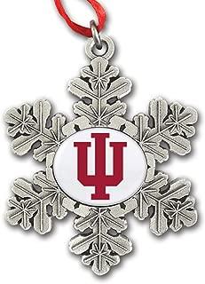 Indiana University Block IU Snowflake Ornament IUOR2401 IMC-Retail