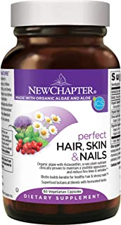 New Chapter Hair Skin & Nails Vitamins with Fermented Biotin + astaxanthin - Vegetarian Capsule (Packaging May Vary), 60 C...