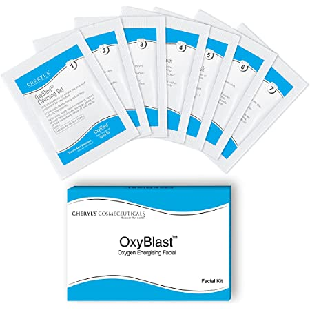 Cheryls Cosmeceuticals Oxyblast: 1 Pack Facial Kit with 7 step sachets for Radiant & Glowing Skin For Women & Men