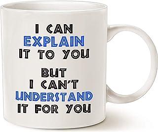 Regalos divertidos de Navidad de la taza de café del ingeniero, puedo explicártelo pero no puedo entenderlo para ti Los mejores regalos de ingeniería para la taza del ingeniero Blanco