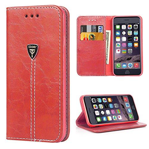 iDoer iPhone 6 Hülle, iPhone 6s Hülle, klappe Handyhülle mit Ständer , PU-Leder schutzhülle Kompatibel mit  iPhone 6/6S (4.7