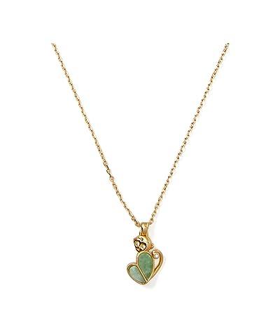 Kate Spade New York Animal Party Monkey Mini Pendant Necklace (Green) Necklace