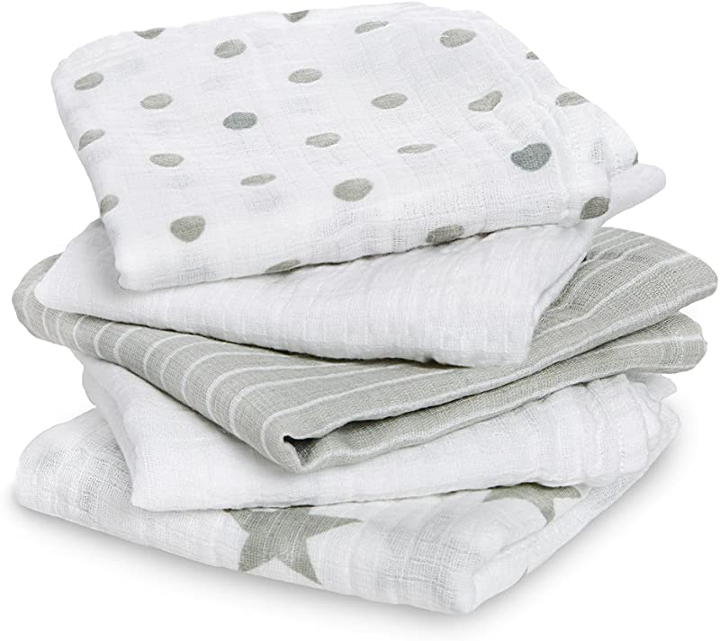 Aden By Aden Anais Musy Squares 5 Pack Dusty