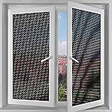 N / A Película de Vidrio autoadhesiva Película de Ventana de Malla Perforada Película Adhesiva autoadhesiva de Puntos Negros Película de privacidad Opaca A19 50x100cm