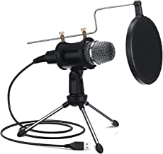 NASUM USB Microphone for Computer, Upgraded Condenser Microphone, Dual-Layer Acoustic Filter,Professional Sound Chipset, f...