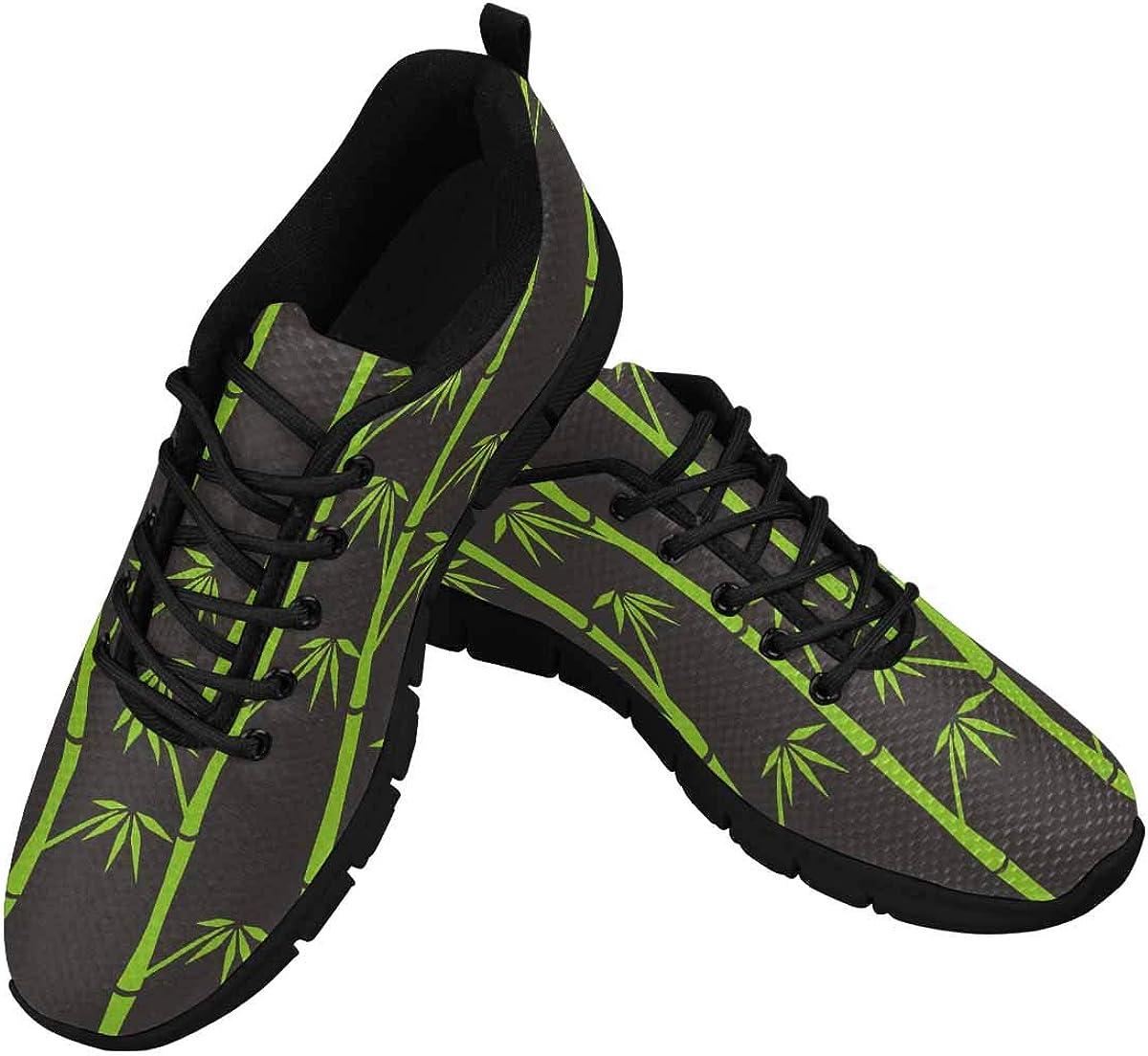 InterestPrint Green Bamboo Women's Breathable Sneaker
