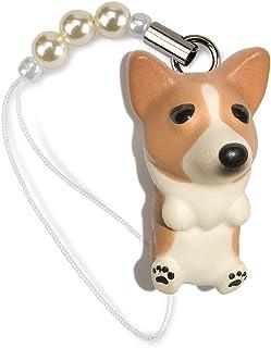 ペットラバーズ 犬種 Dog 92 Corgi コーギー レッドホワイト ビーズ ストラップ DN-7001
