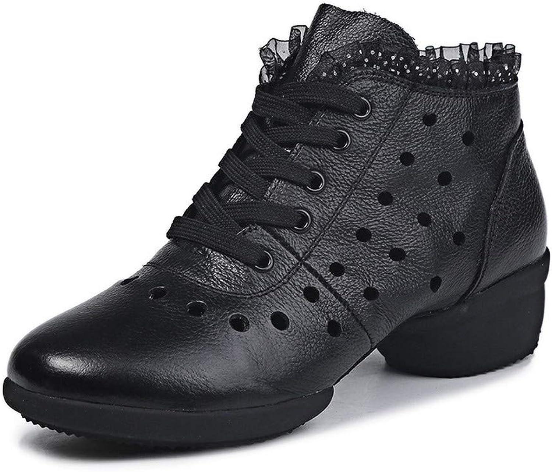 DBQWTY Women's Ballroom Dancing shoes Ballroom Dancing shoes Women's Latin Sneakers Leather Soles