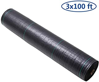 GDNaid 3ft x 100ft Weed Barrier Landscape Fabric 3.2oz Woven Heavy Duty Garden Ground Cover 3-Foot by 100-Foot