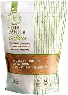 PANELA BIO-NUTRIPANELA 5 kg - Azúcar de caña integral ecologica-Pack de 10 Und de 500g