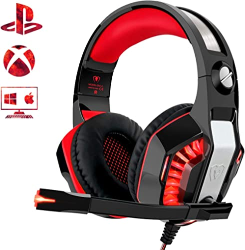 Beexcellent Gaming Headset for PS4 Xbox One PC, Noise-Isolation Headphones with Microphone Stereo Surround Sound for ...