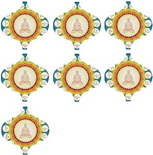 YOLIYANA Yoga Environmental Sticker,Yogi in The Lotus Posture and Exercises in Several Positions Surya Namaskar Vitality for Window,9