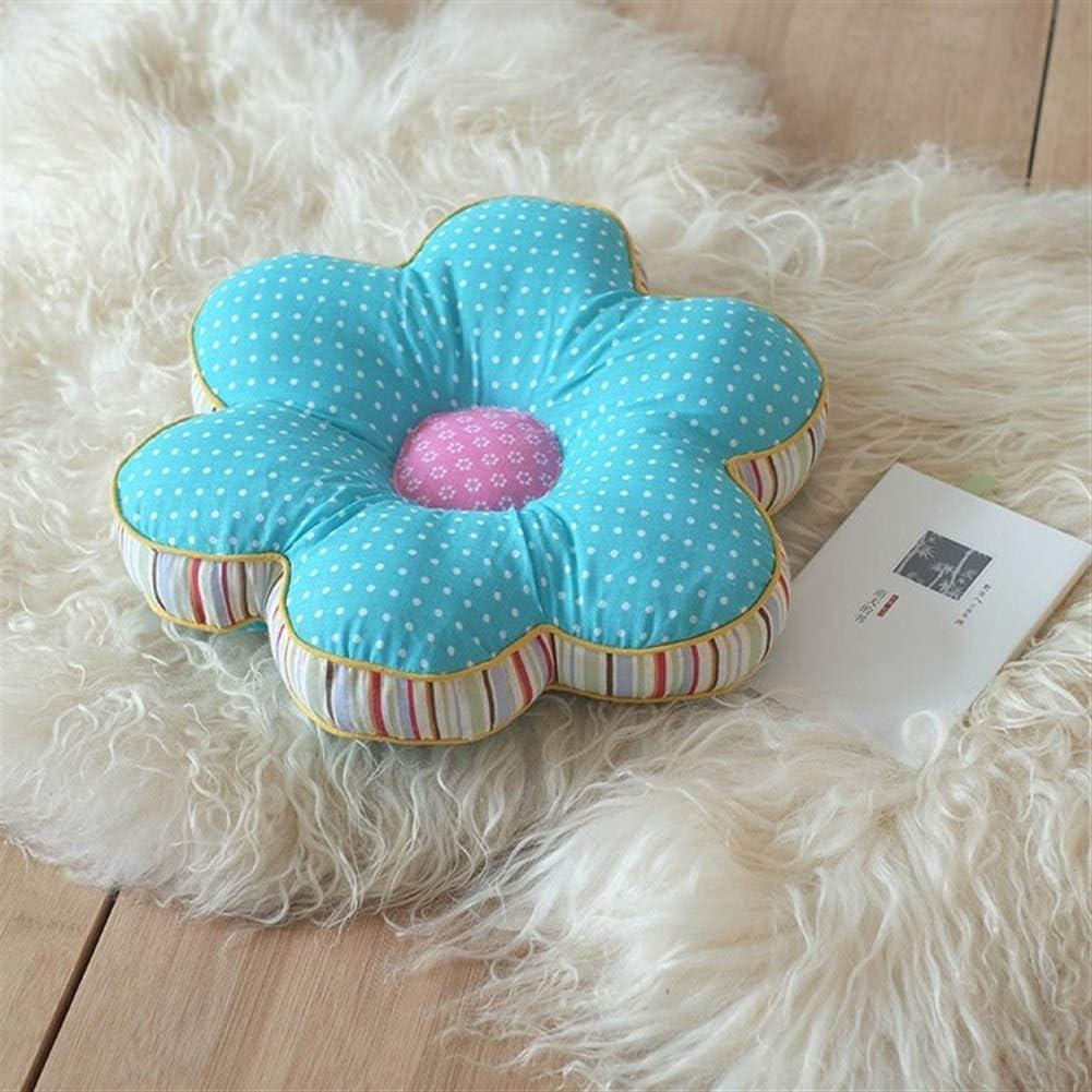 Cute Peluche Color : Blue Dots, Size : 40x40cm Forma Fiore Cuscini Car Seat Cuscini Home Decor PillowThicken Office Chair Cuscino Decorativo Cuscino Divano