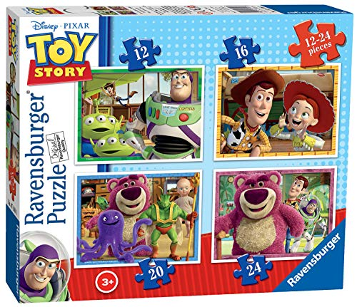 Ravensburger 07108 Toy Story- 4 Puzzle (da 12 a 24 pezzi per puzzle)