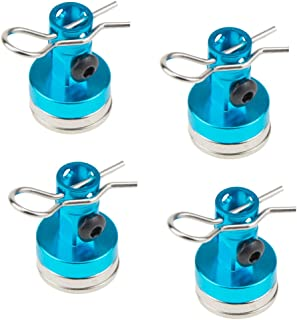 Alloy Magnetic Stealth Invisible Body Post Mount Clips Magnet for HSP Scale Drift RC Touring Car Shell Column Drift 122237 (Blue)