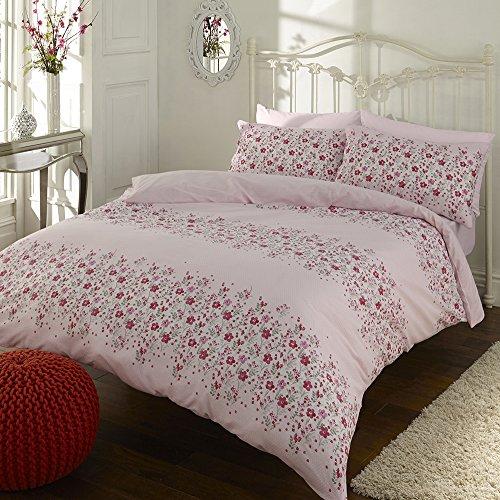SLEEPSCENE Megan Ditsy Floral Duvet Cover and Pillowcase Set Pink (King)