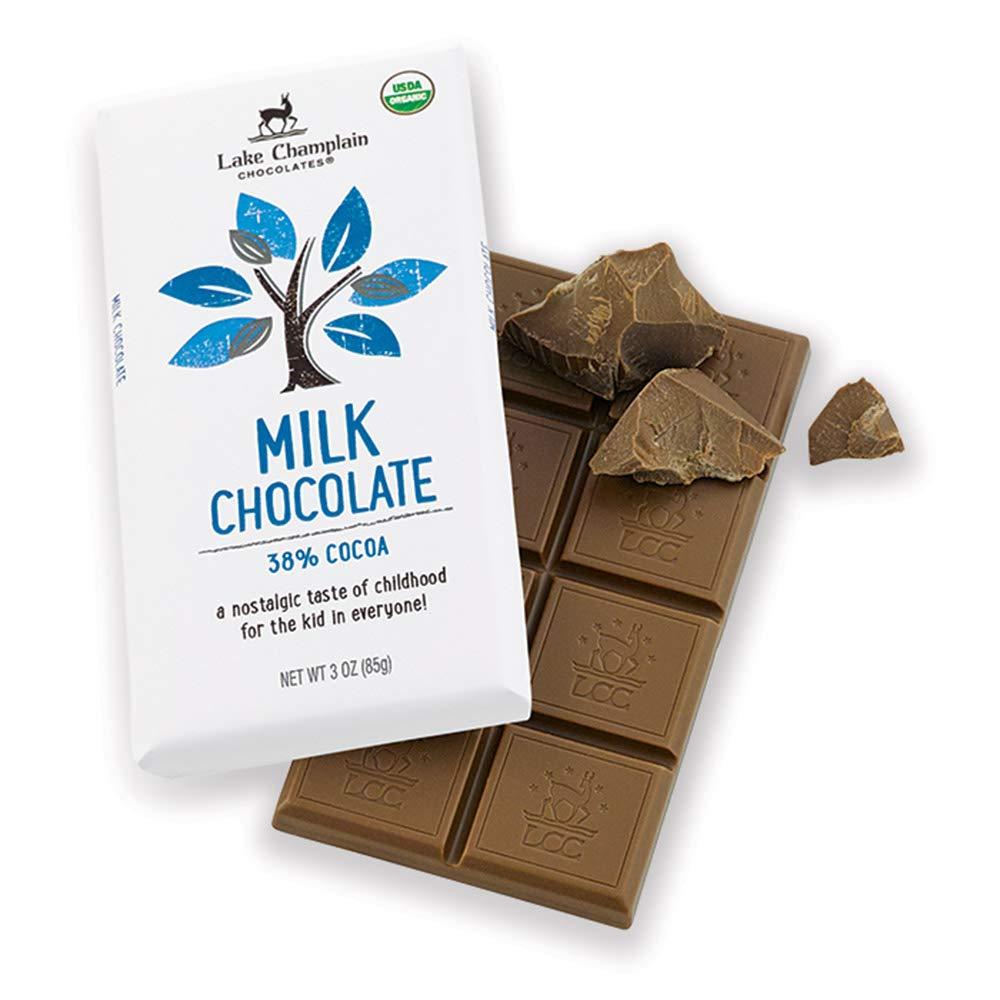 Lake Champlain Chocolates 38% Organic Fees Sales results No. 1 free Milk Bar Candy Chocolate
