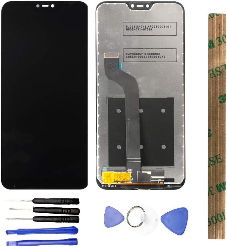 JayTong Pantalla LCD y digitalizador de pantalla táctil de repuesto con herramientas gratuitas para Xiaomi MiA2 Lite/Mi A2 Lite/Redmi 6 pro 6pro Negro