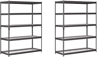 EDSAL TRK-602478W5 Heavy Duty Steel Shelving in Black 60x24x78 inches (Pack of 2)