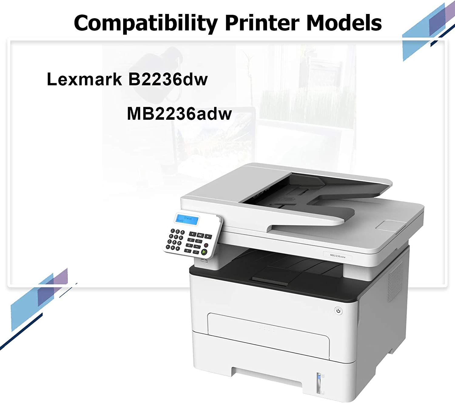 1 Pack Black Remanufactured B220Z00 Imaging Unit Replacement for Lexmark MB2236adw B2236dw Printers,Sold by Thurink.