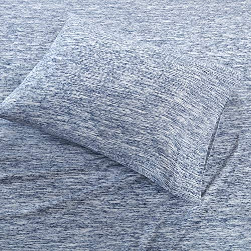 Urban Habitat Space Dyed Knit Sheet Set Blue Full product image