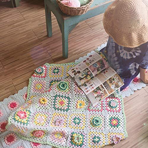 antieke deken van katoen melk katoen tafelkleed oma 90 * 90 wool bag without tools Grandmother's garden