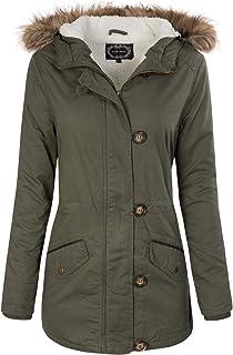Instar Mode Women's Military Anorak Safari Hoodie Jacket