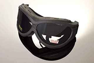 Hot Leathers Big Ben Smoke Goggles Motorcycle Biker Over Glasses Anti-Fog Lenses