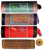 BUDDHAFIGUREN Juego de 3 varitas de incienso tibetano: Juniper - Sándalo rojo - Sándalo
