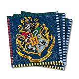 Unique Party Supplies 59102 Papierservietten - 16,5 cm - Harry Potter Party - Packung mit 16 Stück