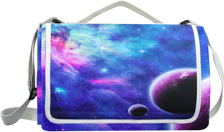 Jeansame Stars Galaxy Galaxy Galaxy Planeten Nebula Universe Space Picknickdecke Picknickdecke Camping Matte für Outdoor Reisen Wandern Yoga Wasserdicht Tragbar Faltbar 150 x 145 cm B07MP9X32X  Komfortabel und natürlich bc9d77