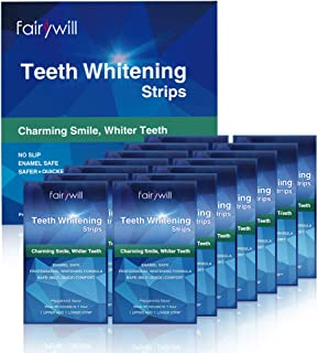 Fairywill Professional Teeth Whitening Strips with Non-Slip Tech, Safe for Enamel, 3D Strips pack of 28 strips, Whitening Effect LASTS 90 Days & Beyond