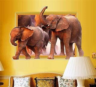 RTLJN Wall stickersEuropa y Los Estados Unidos explosión 3D Marco de fotos estéreo Elefante pegatinas de
