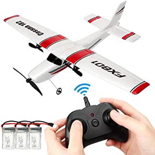 Remote Control Airplane,RC Plane Ready to Fly 2.4Ghz 2 Channel EPP RC Aircraft for Kids Boys Beginner