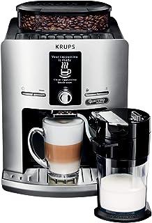 KRUPS Expresso Broyeur Espresseria Latt Espress Silver Cafetière Espresso Machine à café Grains Cappuccino YY4201FD, 1450 W