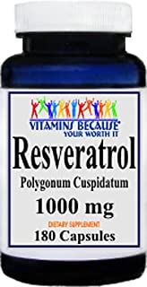 Resveratrol 1000mg, 180 Capsules - Heart/Cholesterol/Blood